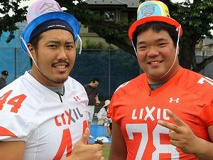 WINTER DEERSキャプテンDL#44小宮選手とSUMMER DEERSキャプテンOL#78荒井選手(色違いの帽子をかぶっていました)